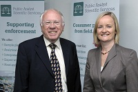 Lord Brooker and Liz Moran