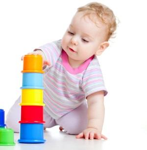 Baby baut einen Turm, Muttertest
