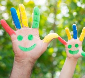 bemalte Kinderhände, Verwandtscahftstest