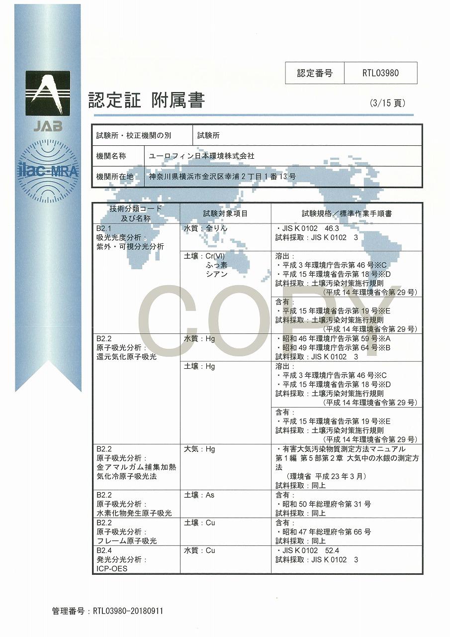 ISO/IEC 17025認定証 04