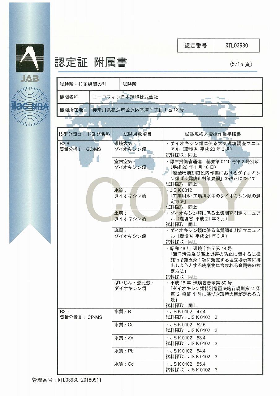 ISO/IEC 17025認定証 06
