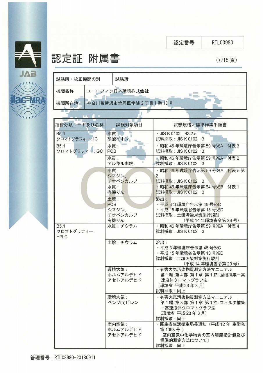 ISO/IEC 17025認定証 08