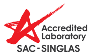 Accredited Laboratory by SAC-SINGLAS