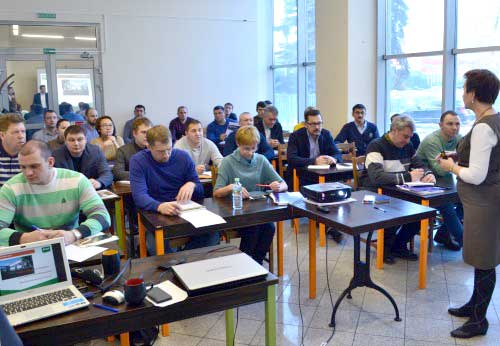 Workshop about soil in Moscow.