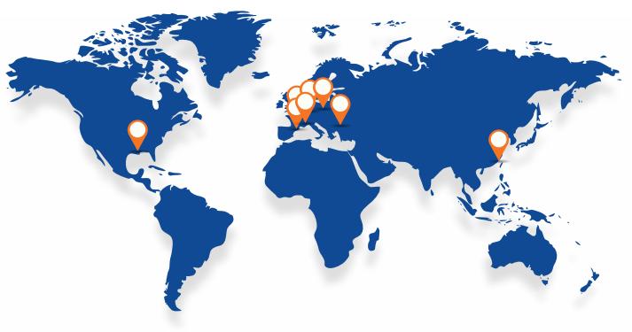 Sensory testing worldmap