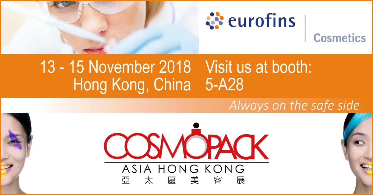 Banner Eurofins cosmopack 2018