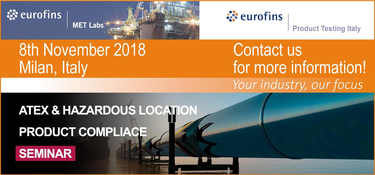 Hazardous location Eurofins MET - Eurofins Product Testing Italy