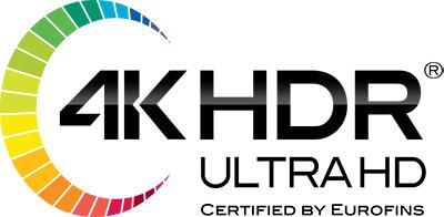 4K HDR Ultra HD Logo by Eurofins