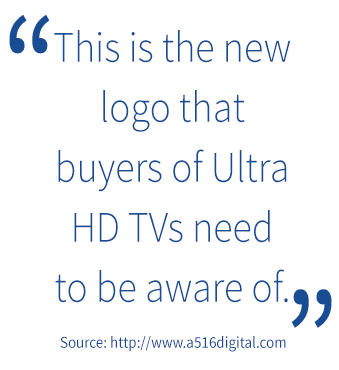 4K HDR Ultra HD logo quote