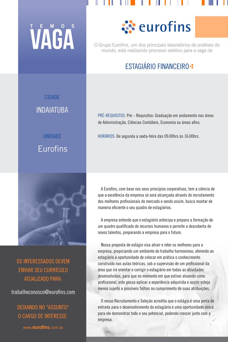 ESTAGIÁRIO FINANCEIRO - Indaiatuba/SP