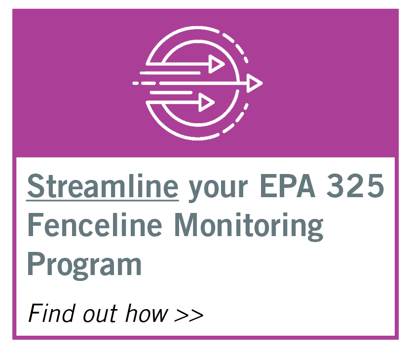 EPA 325 Fenceline Monitoring FAQs
