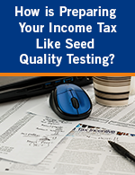 How is Preparing Your Tax Like Seed Quality Testing?