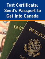 Test Certificate: Seed's Passport to Get into Canada