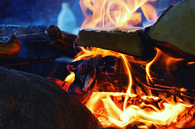 Logs Aflame