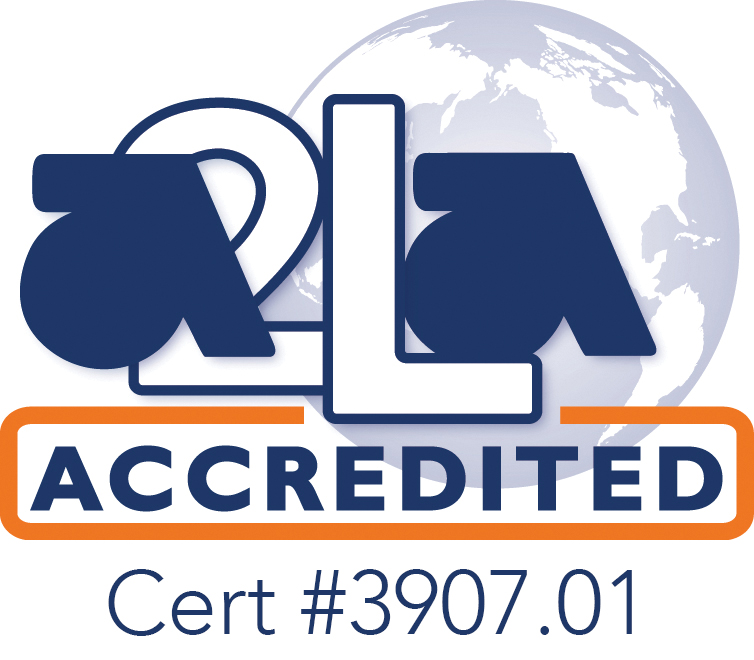 A2LA Accredited Cert #3907.01