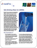 SDWA (Safe Drinking Water Act)