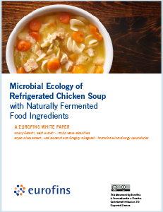 In this study, researchers from Eurofins Microbiology and Third Wave Bioactives collaborated to compare the microbial succession of refrigerated chicken noodle soup.