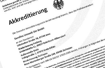 Akkreditierung Eurofins Umwelt Ost GmbH