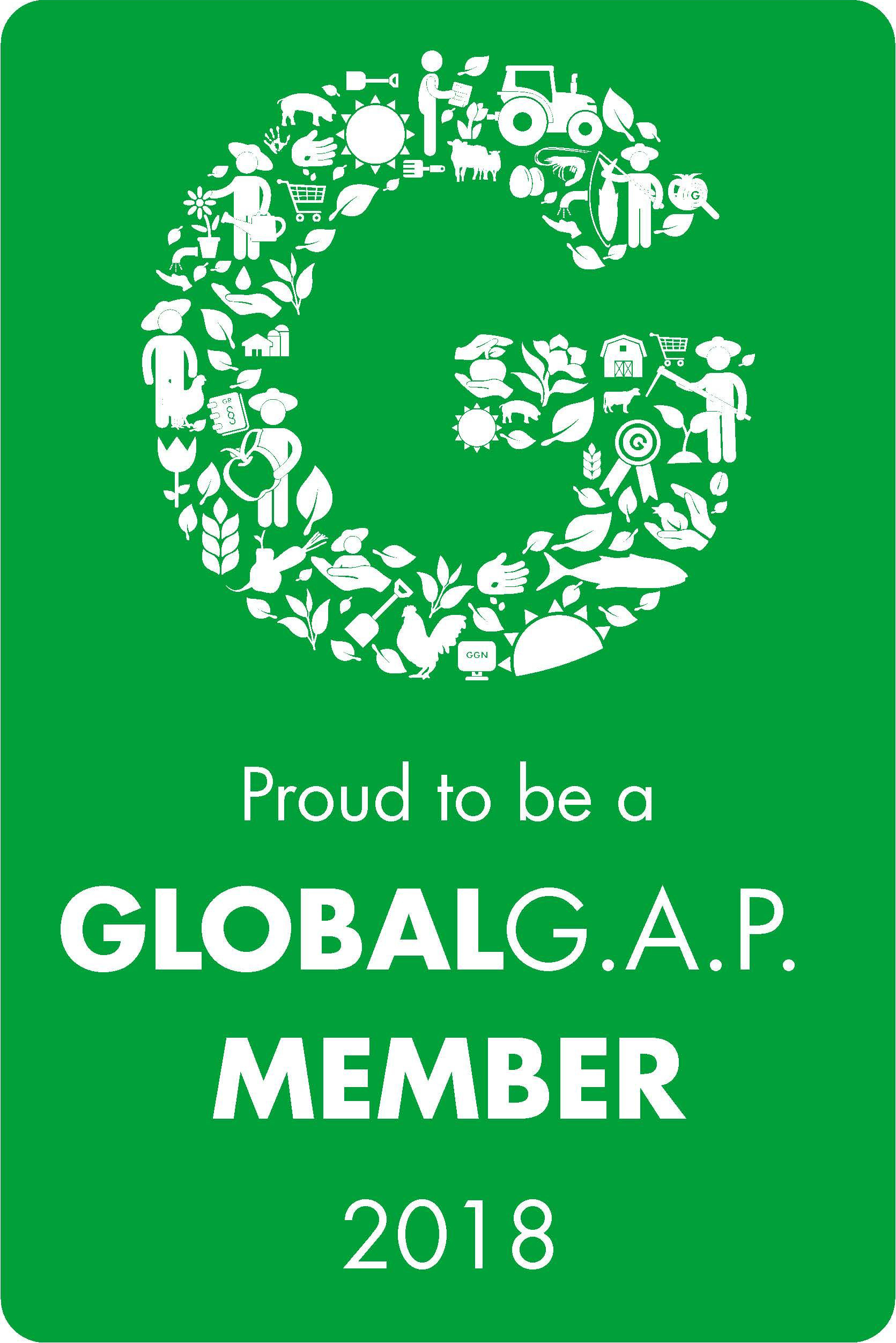 Proud to be a Global G.A.P. Member 2018