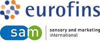 Logos Eurofins und SAM