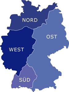 Eurofins Umwelt Regionen in Deutschland