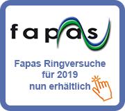 Fapas Ringversuche für 2019 nun bei Eurofins erhältlich