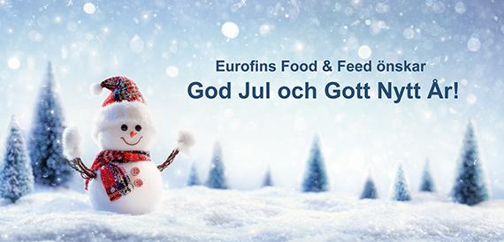 Eurofins Food & Feed önskar God Jul och Gott Nytt År!
