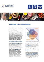 Download: Flyer zur Integrität von Lebensmitteln
