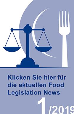 Download Icon der Food Legislation News, Ausgabe 1/2019