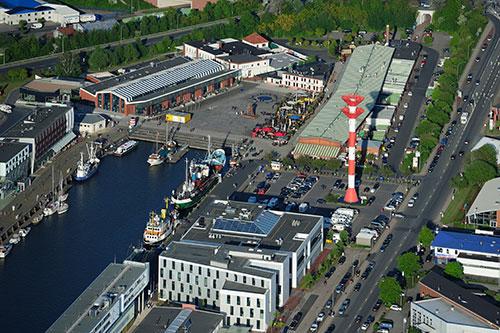 Luftbild der Q-Bioanalytic GmbH in Bremerhaven