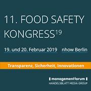 Eurofins Expertenvortrag auf dem 11. Food Safety Kongress