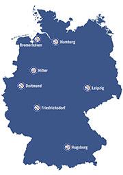 Ihre Standorte für mikrobiologische Analysen bei Eurofins Food Testing Germany
