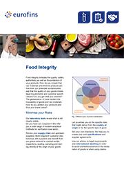 product flyer food integity