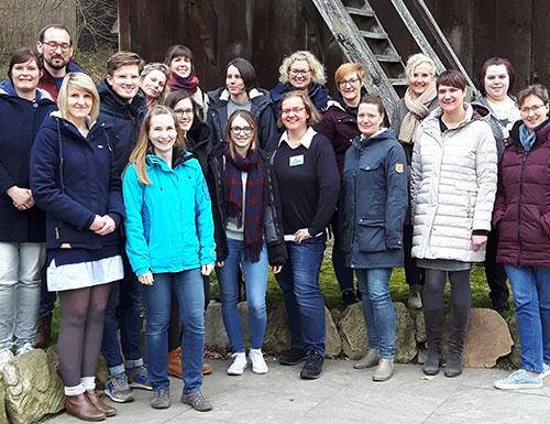 Gruppenbild der Eurofins Nachhaltigkeits-Champions auf ihrem Workshop am 26.03.2019