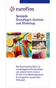 Seminarprogramm: Sensorik - Grundlagen-Seminar und Workshop am 27.11.2019