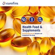 Eurofins Broschüre Health Food & Supplements