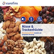 Eurofins Broschüre Nüsse und Trockenfrüchte