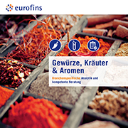 Eurofins Broschüre Gewürze, Kräuter & Aromen
