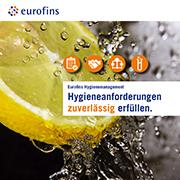 Eurofins Broschüre Hygieneanforderungen zuverlässig erfüllen