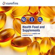 Eurofins brochure Health Food & Supplements