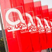 ANUGA 2019, flags showing the ANUGA Logo
