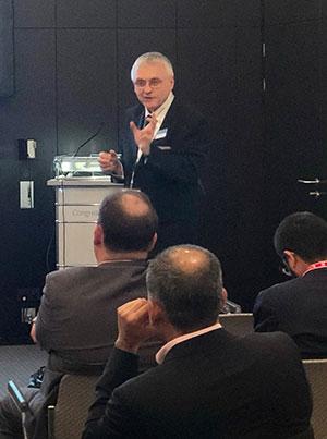 Werner Nader at the 4th Eurofins Rice Conference, ANUGA 2019