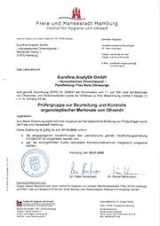 Amtliche Anerkennung – Zulassung als Prüfergruppe  - Hanseatisches Olivenöl-Panel