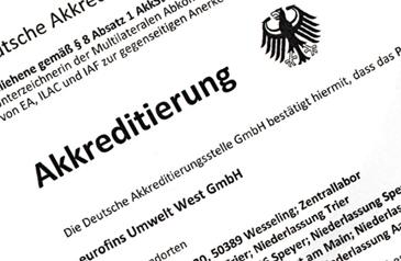Akkreditierung Eurofins Umwelt West GmbH