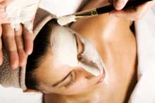 Woman beauty treatment