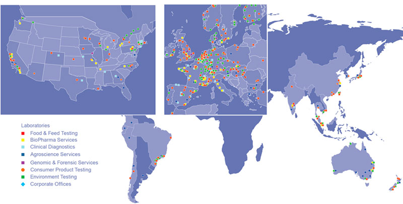 Eurofins World Map